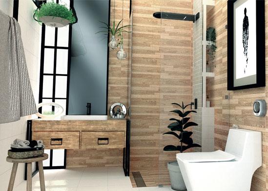 แบบห้องน้ำลายไม้ แนวห้องน้ำวินเทจสำหรับคนยุคใหม่ เพิ่มความใกล้ชิดห้องน้ำสไตล์ธรรมชาติ
