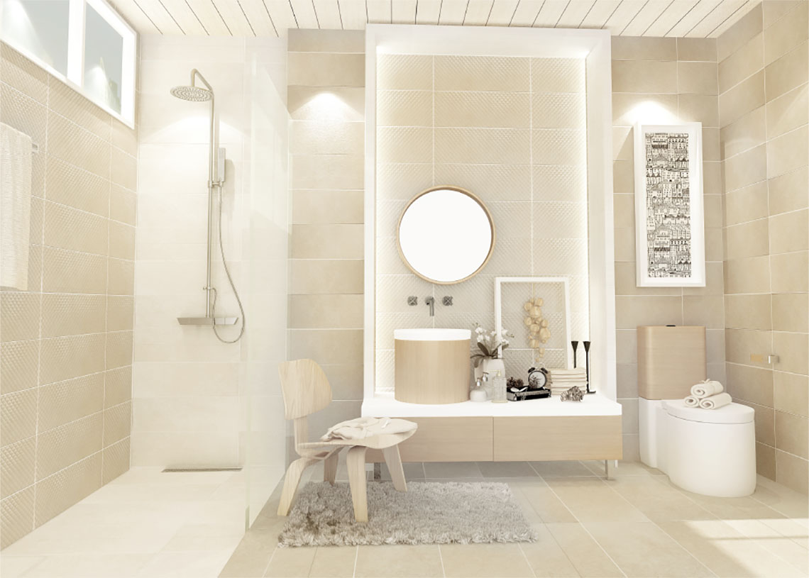 Femme series cotto - Beautiful bathrooms for small spaces photos ...