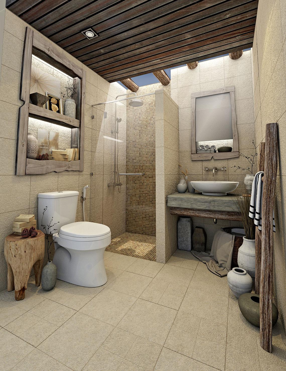 แบบห้องน้ำวินเทจ,ห้องน้ำธรรมชาติ,แบบห้องน้ำเก๋