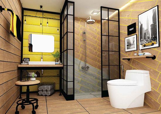 ห้องน้ำลายไม้สุดเก๋ สไตล์Loft ฉีกกฎแห่งการสรรค์สร้างห้องน้ำส่วนตัว