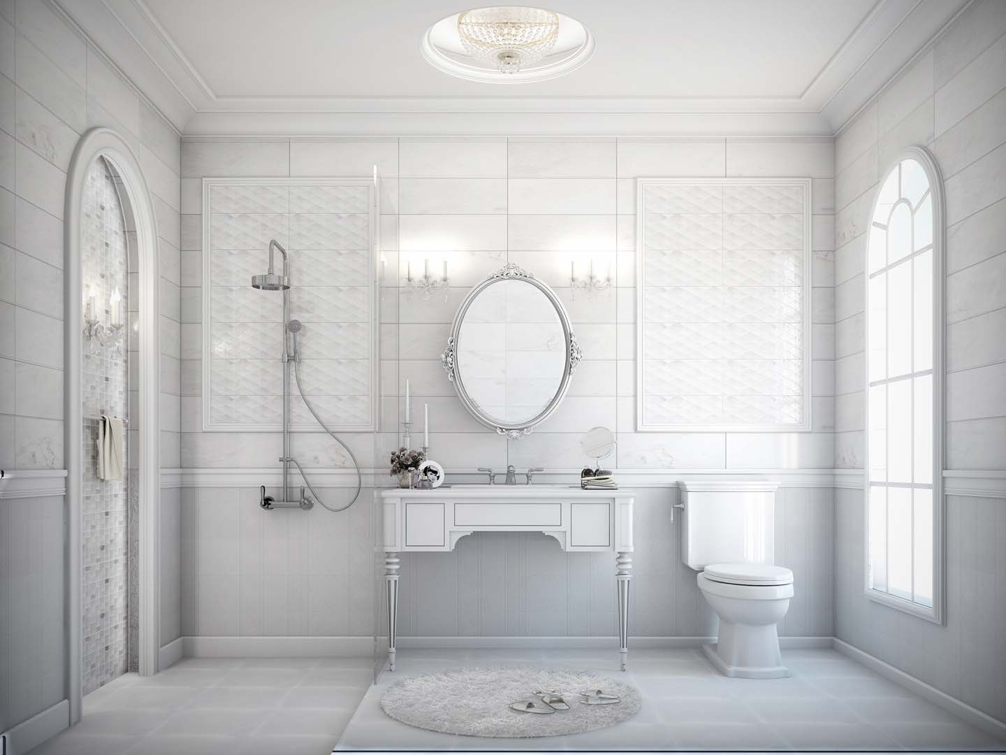 Gl Bathroom Tiles Image Of