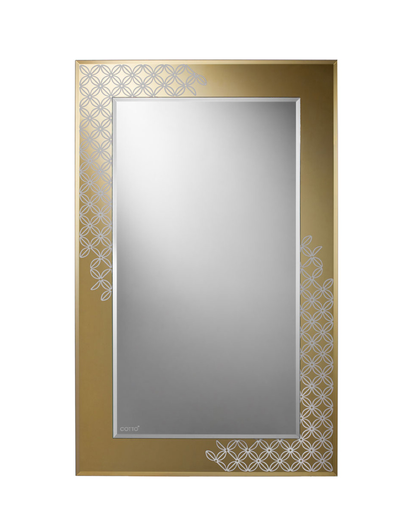URBANEAST Mirror with sand blested design - COTTO