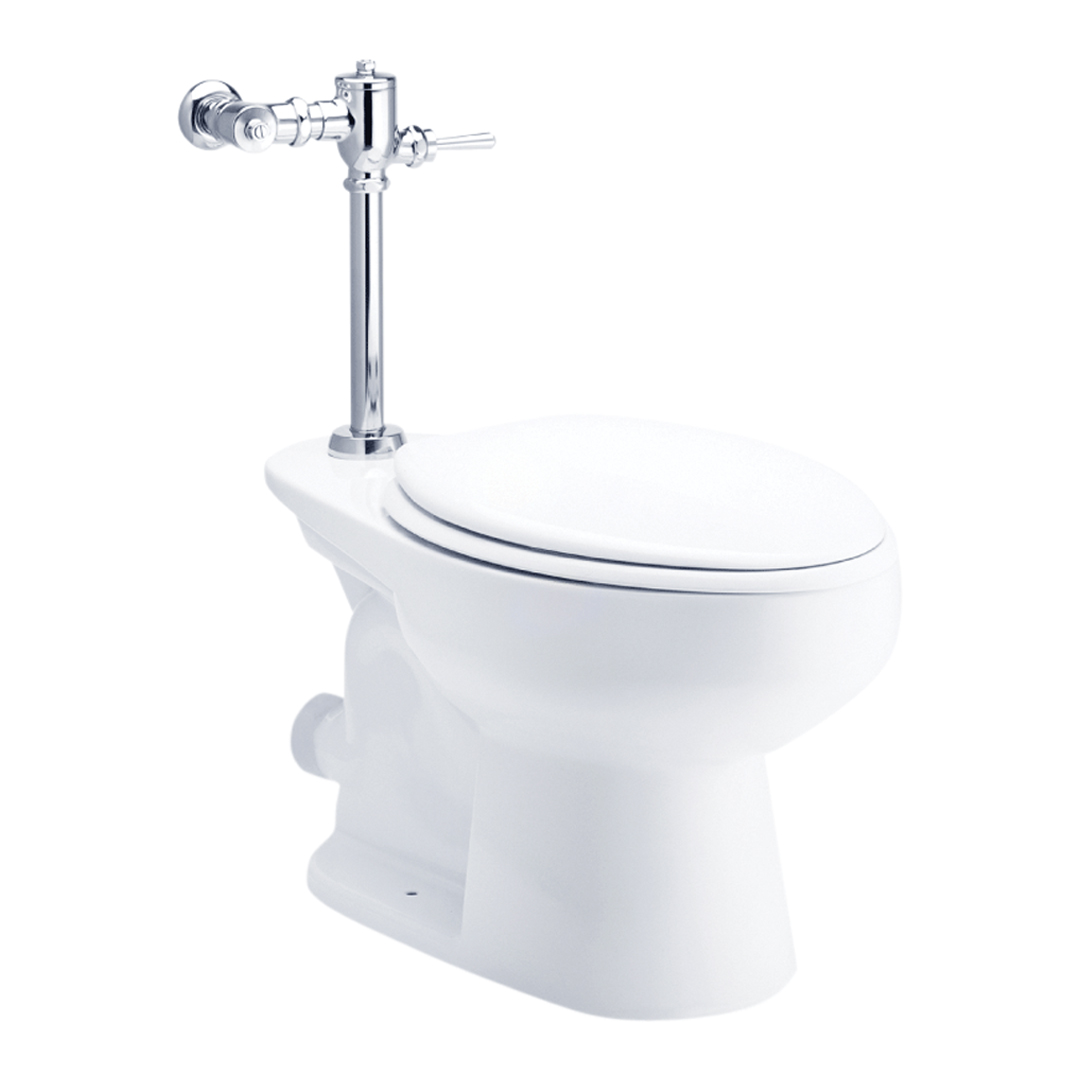 C1330 Wall Face Toilet With Flush Valve Top Inlet